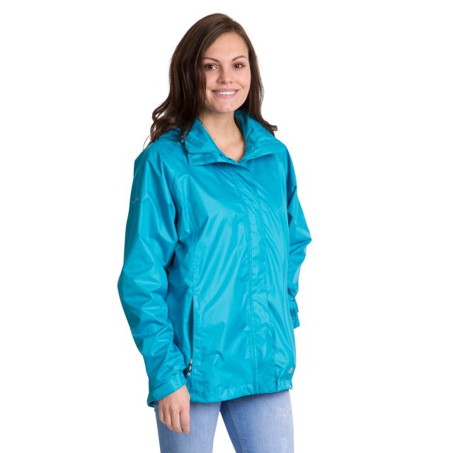 Trespass Womens Waterproof Jacket Lanna II in Bermuda Blue