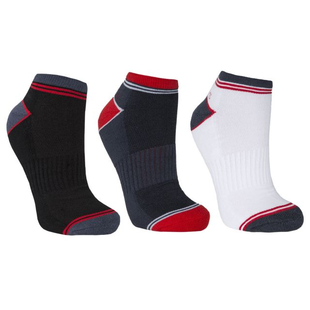 Lapse Men's Trainer Socks - 3 Pack in Assorted
