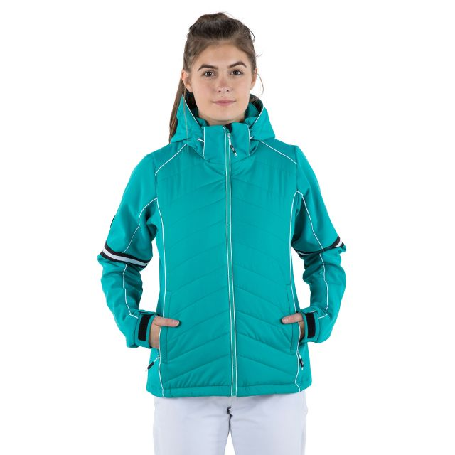 Larne Women's Windproof Ski Jacket in Green
