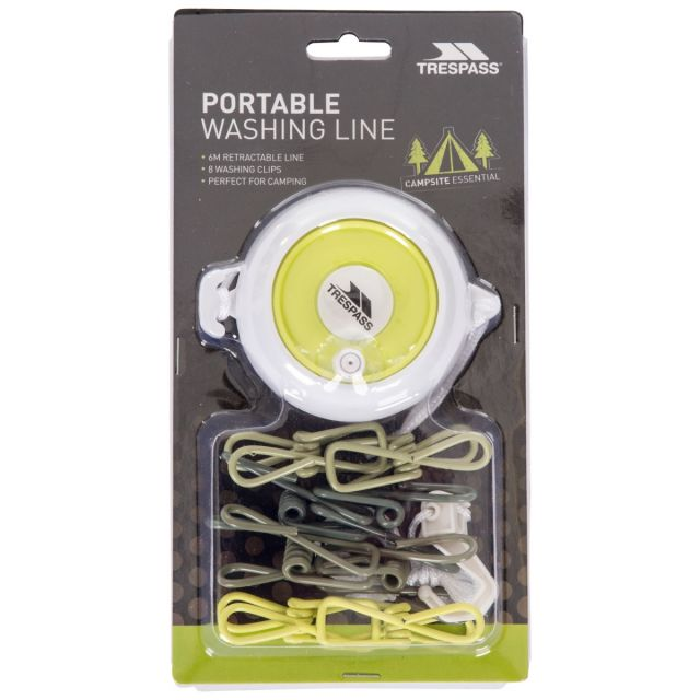 Retractable Washing Line with Pegs 6m in Green