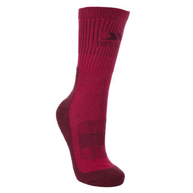 Trespass Womens Walking Socks Coolmax Breathable Leader Cerise