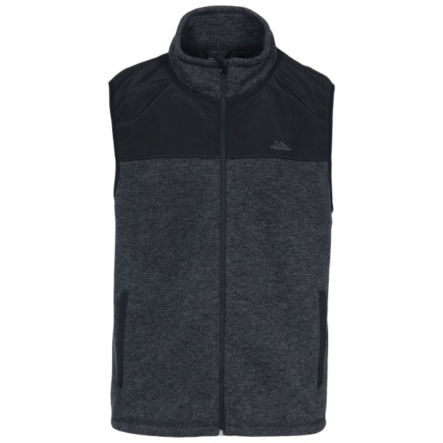 Leafminer Men's Gilet Fleece in Black