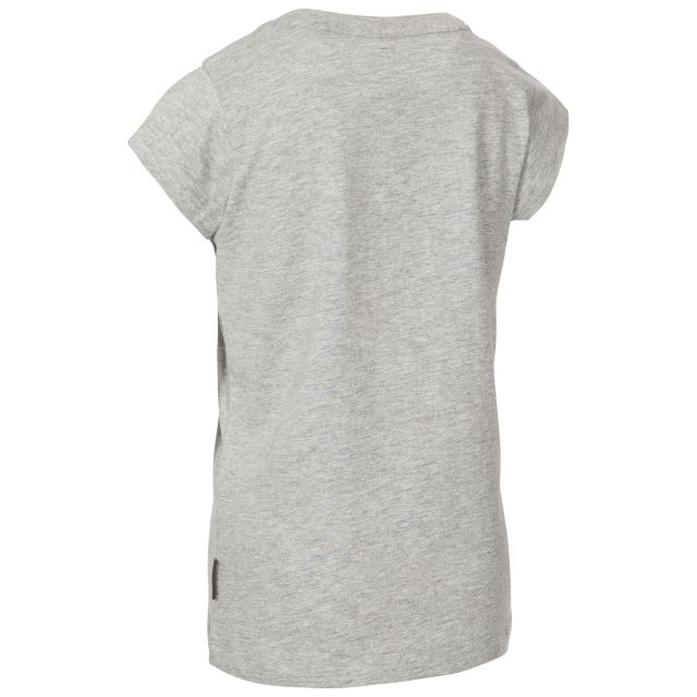 Leia Kids' Printed T-Shirt in Light Grey