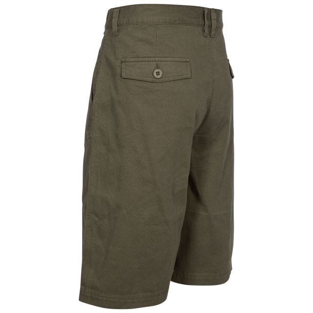 Leominster Men's Cotton Shorts in Khaki
