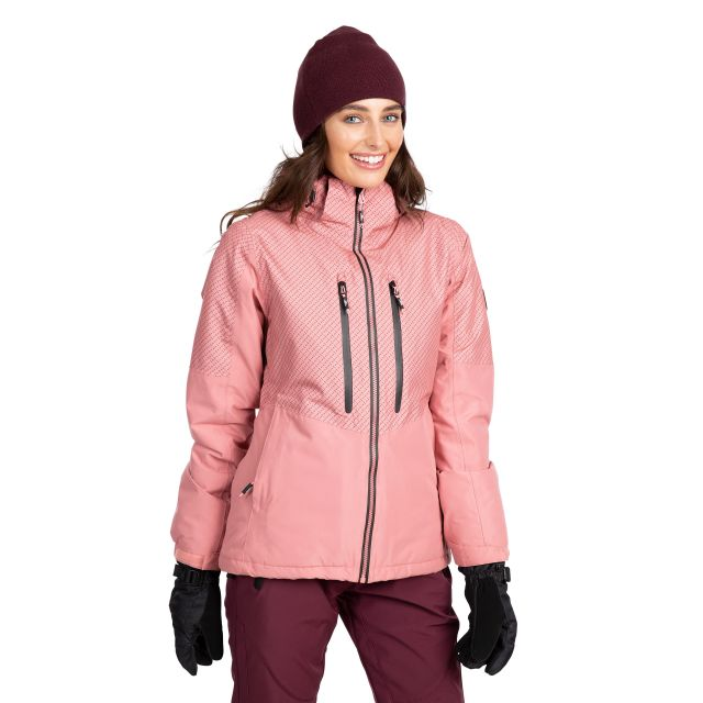 Trespass Womens Waterproof Ski Jacket Limelight in Pink