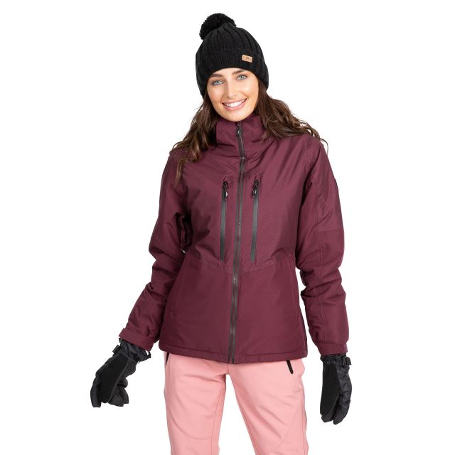 Trespass Womens Waterproof Ski Jacket Limelight in Purple