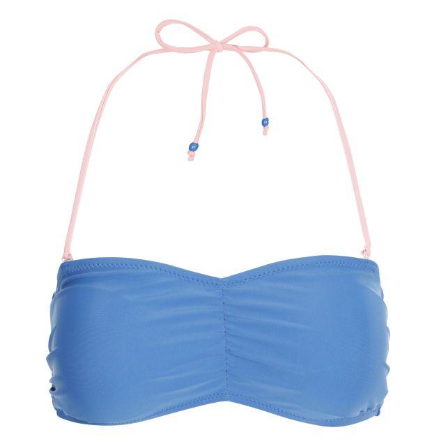 Linear Women's Halterneck Bikini Top in Blue