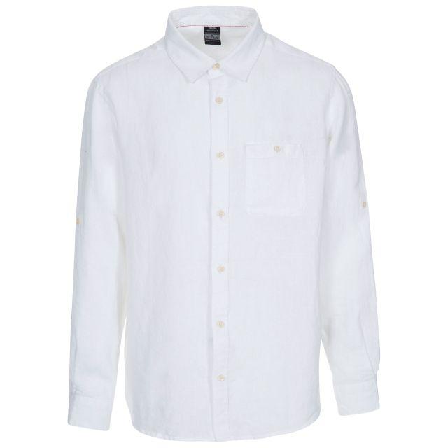 Linley Men's Linen Shirt in White