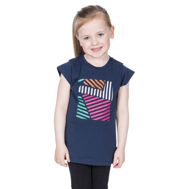 Linnea Kids' Printed T-Shirt in Navy