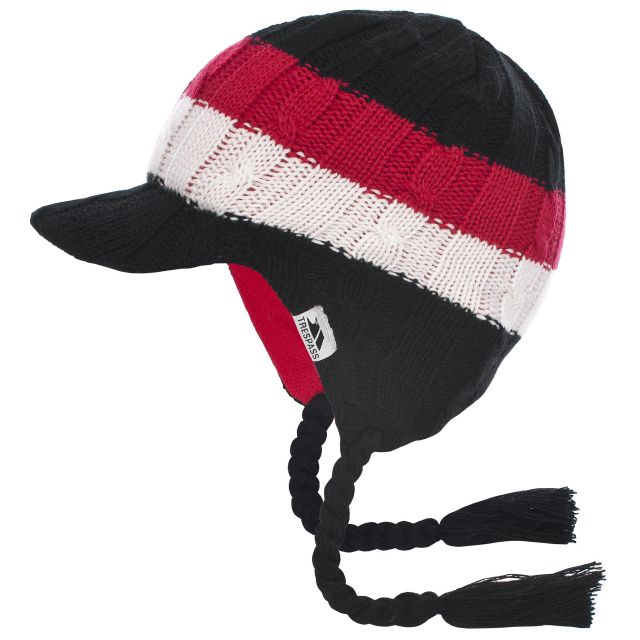 Lobo Kids' Knitted Beanie Hat in Black