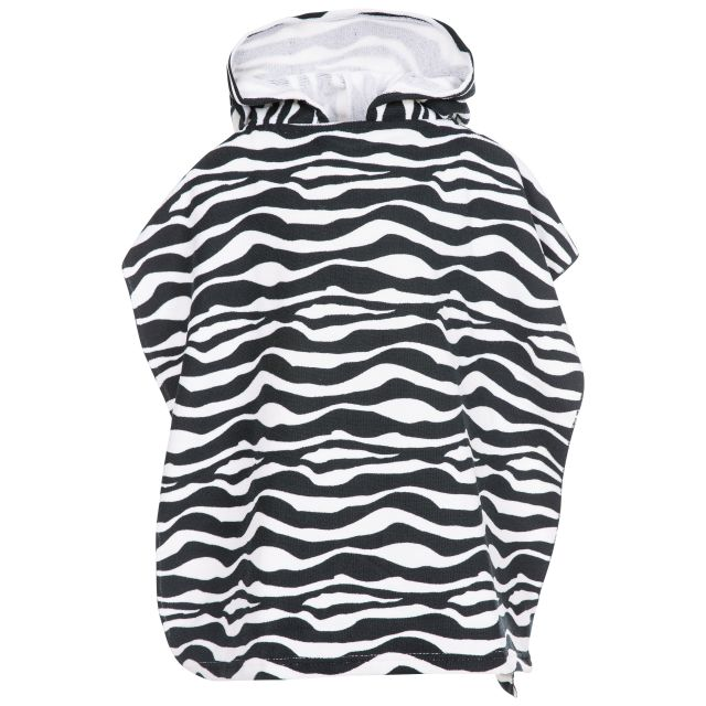 Logan Kids' Poncho Towel in Black