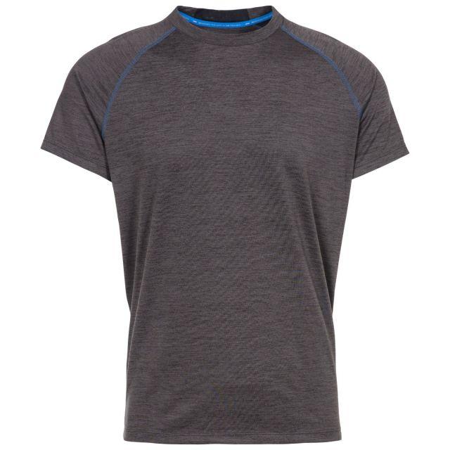 Loki Men's DLX Eco-Friendly T-Shirt  in Dark Grey, Front view on mannequin