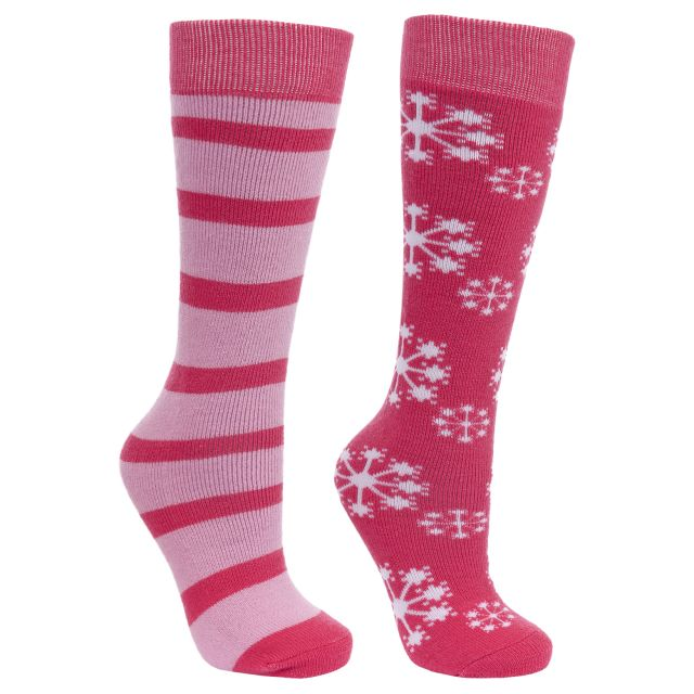 Lori Kids' Tube Socks - 2 pack in Pink