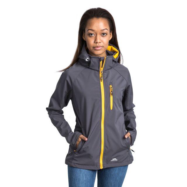 Trespass Womens Softshell Jacket Hooded Lorina in Grey