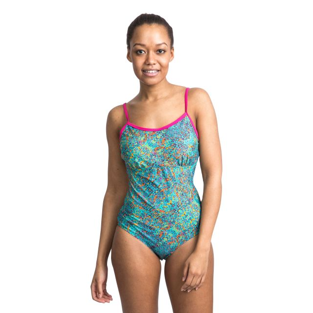 Lotty Women's Printed Swimming Costume in Light Blue