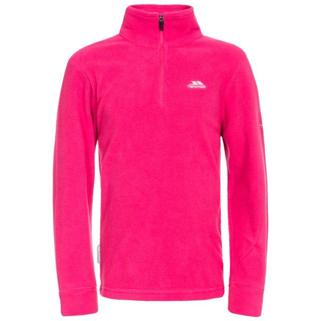 Louviers Kids' Half Zip Fleece in Pink