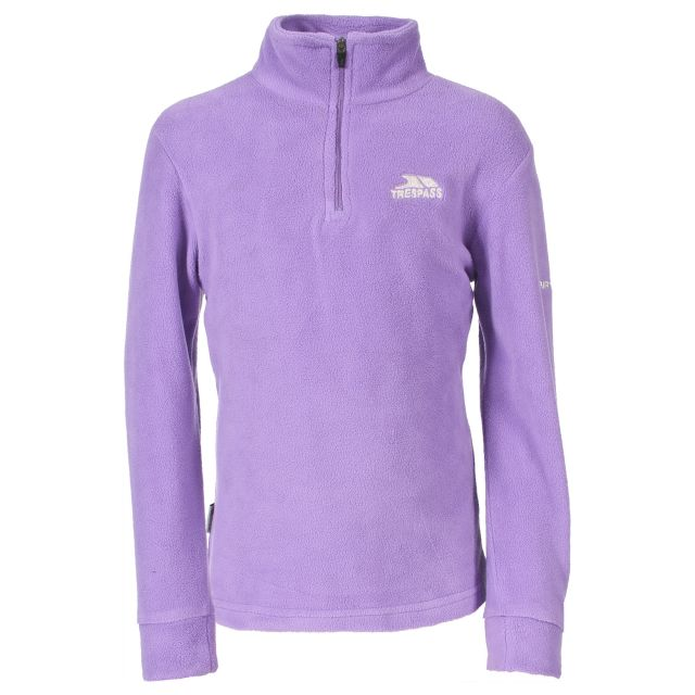Louviers Kids' Half Zip Fleece in Light Purple