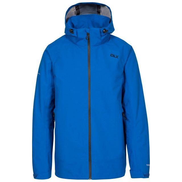 Lozano Men's DLX Waterproof Jacket in Blue, Front view on mannequin