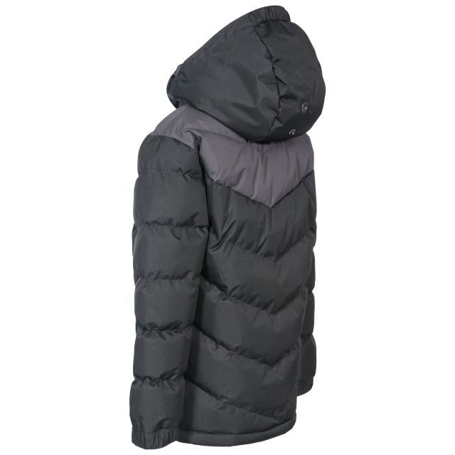 Luddi Kids' Padded Waterproof Jacket in Black
