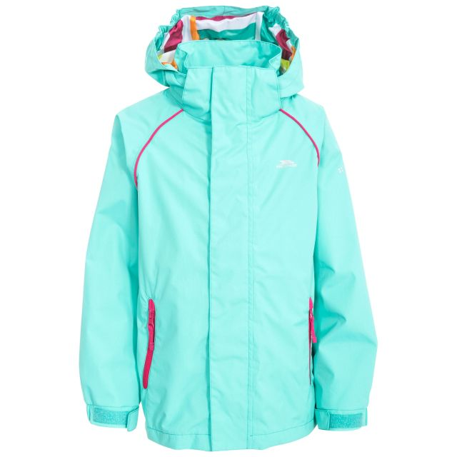Lunaria Girls' Waterproof Jacket in Light Blue