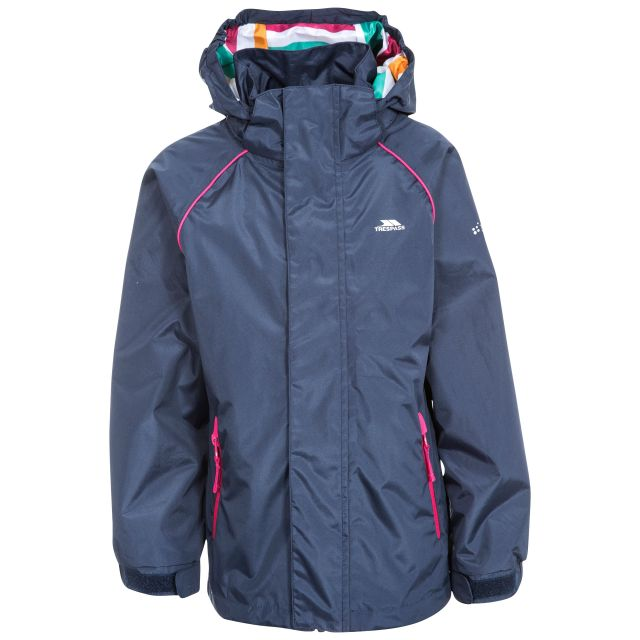 Lunaria Girls' Waterproof Jacket in Navy