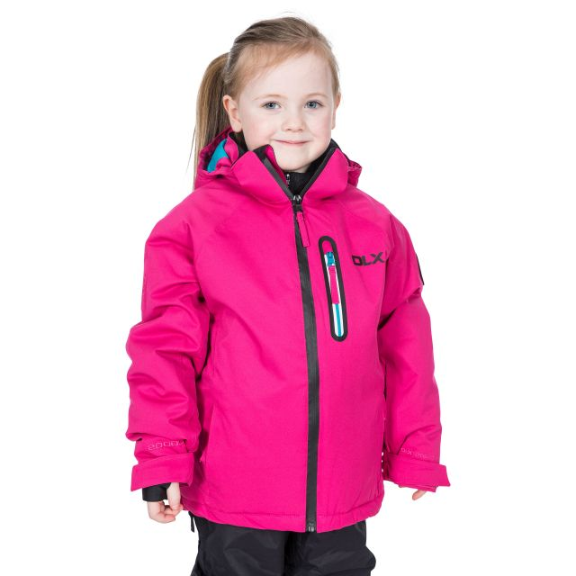 Luwin Kids' DLX RECCO Ski Jacket in Pink