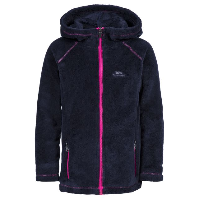 Lysle Kids' Full Zip Fleece Hoodie in Black