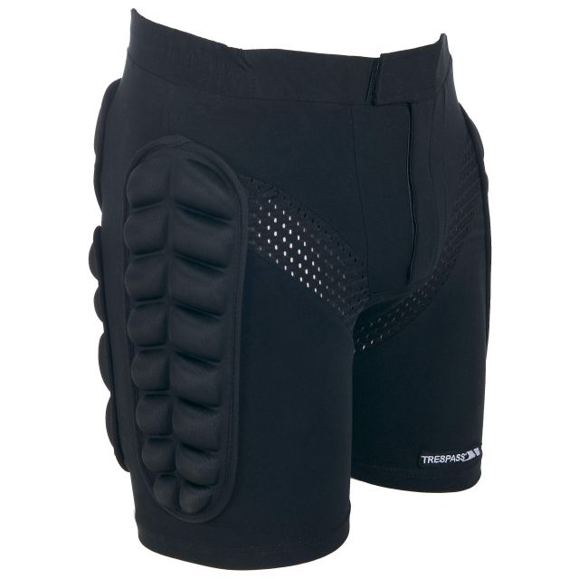 Impact Unisex Padded Active Shorts in Black