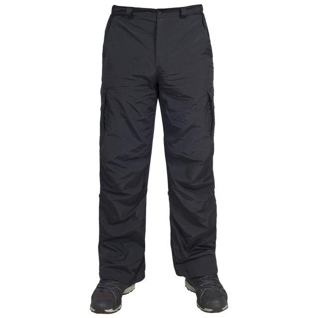 Taro Mens Cargo Trousers in Black