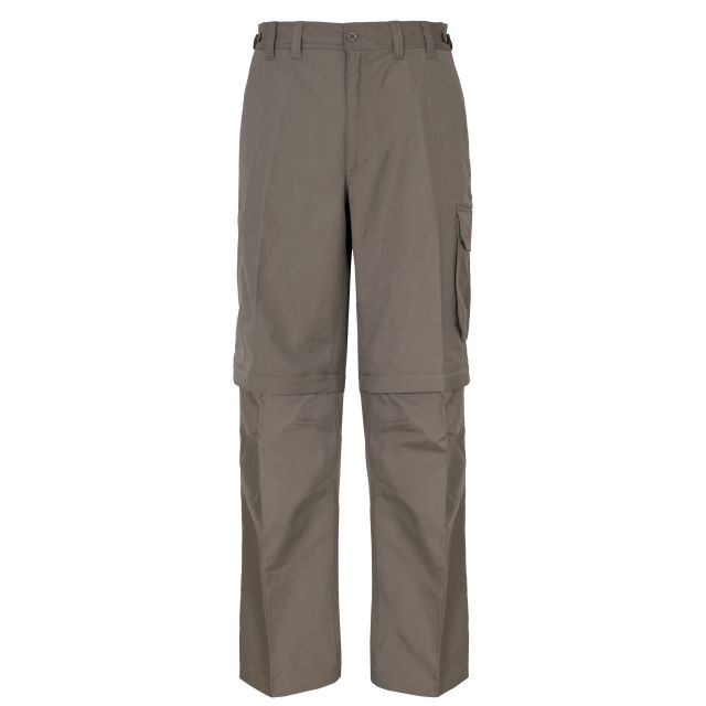 Mallik Men's Zip Off Walking Cargo Trousers in Brown
