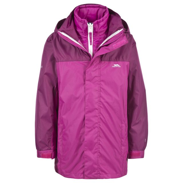Maddox Kids' 3-in-1 Waterproof Jacket in Pink