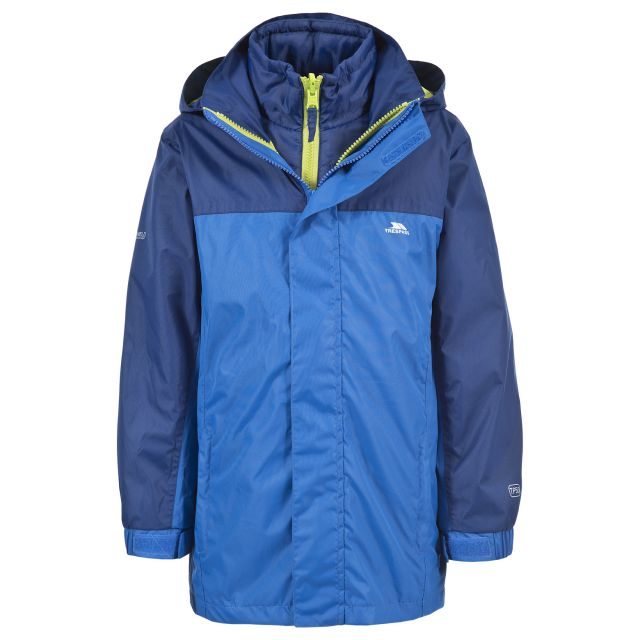 Maddox Kids' 3-in-1 Waterproof Jacket in Blue