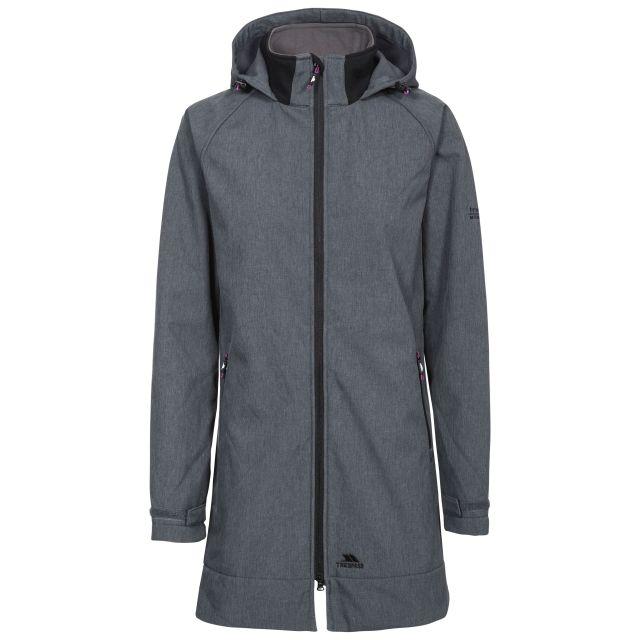 Maeve Women's Long Softshell Jacket in Grey