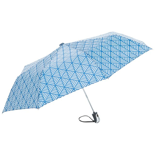 Printed Compact Umbrella in Blue