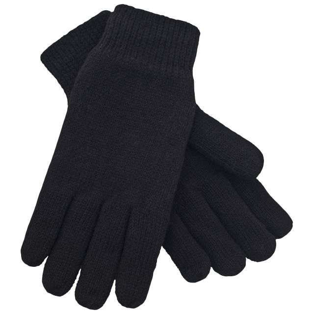 Bargo Unisex Knitted Gloves - BLK