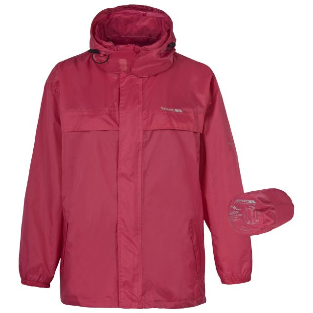 Packa Adults' Waterproof Packaway Jacket in Peach