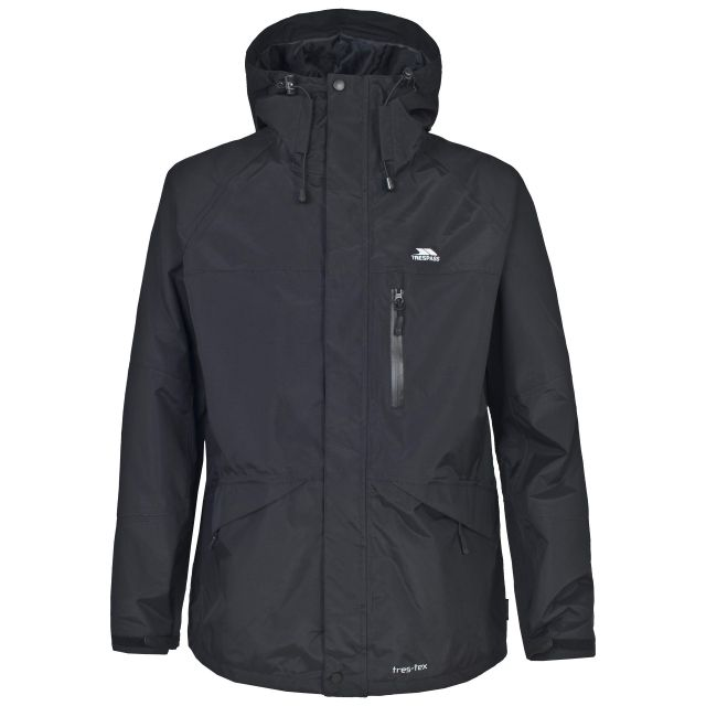 Corvo Men's Waterproof Windproof Jacket in Black