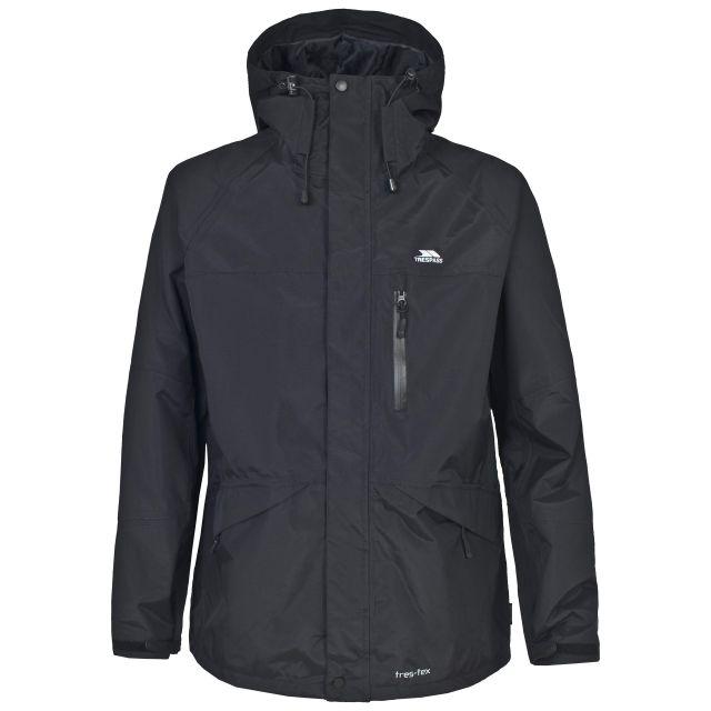 Corvo Men's Waterproof Windproof Jacket in Black