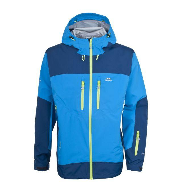 Biagio Men's Yellow Waterproof Jacket in Blue