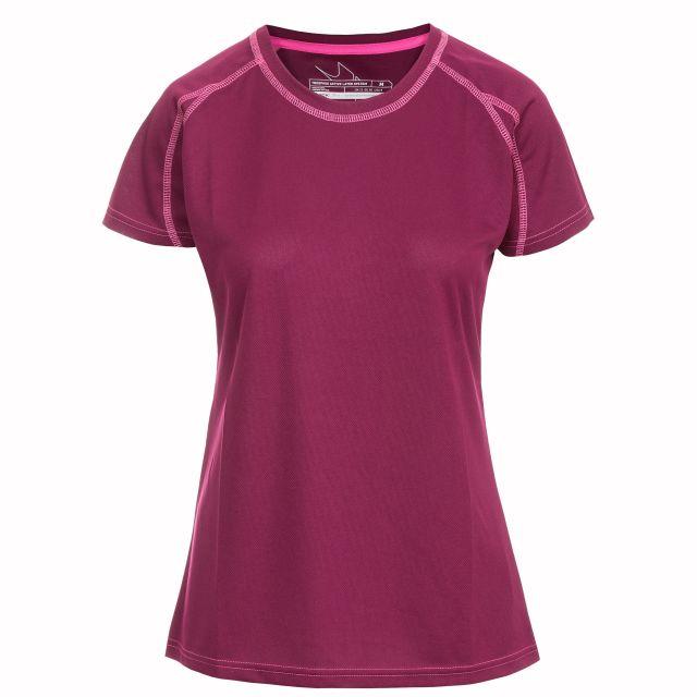 Mamo Women's Quick Dry T-Shirt in Burgundy