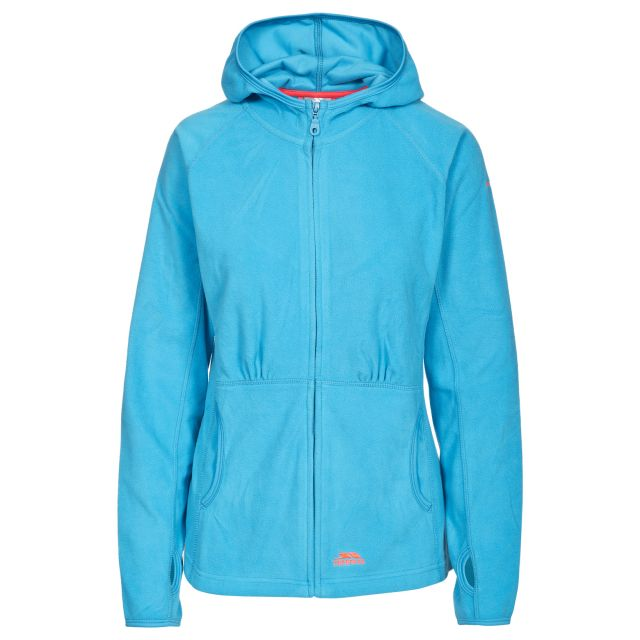 Marathon Womens Anti Pilling Microfleece Hoodie in Blue