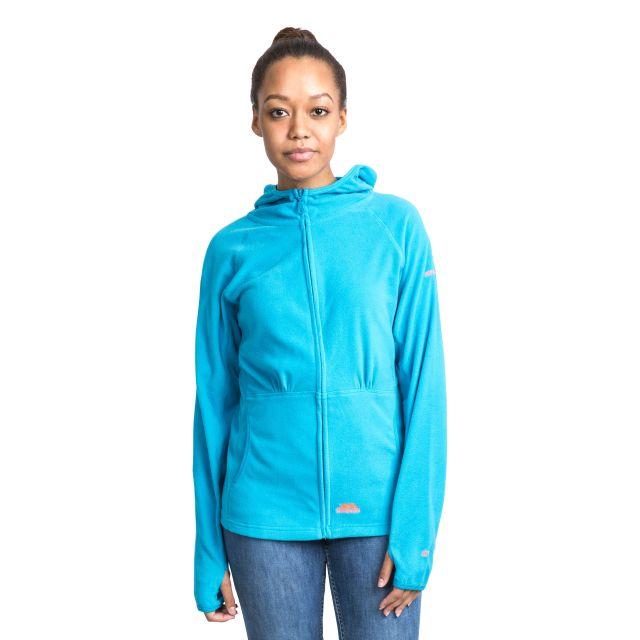 Marathon Womens Anti Pilling Microfleece Hoodie in Blue