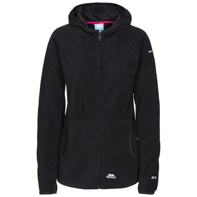 Marathon Womens Anti Pilling Microfleece Hoodie in Black