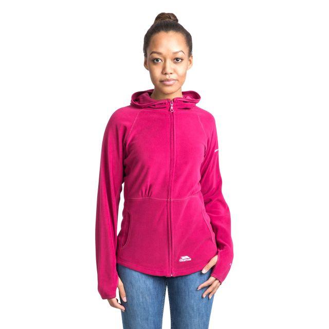 Marathon Womens Anti Pilling Microfleece Hoodie in Pink