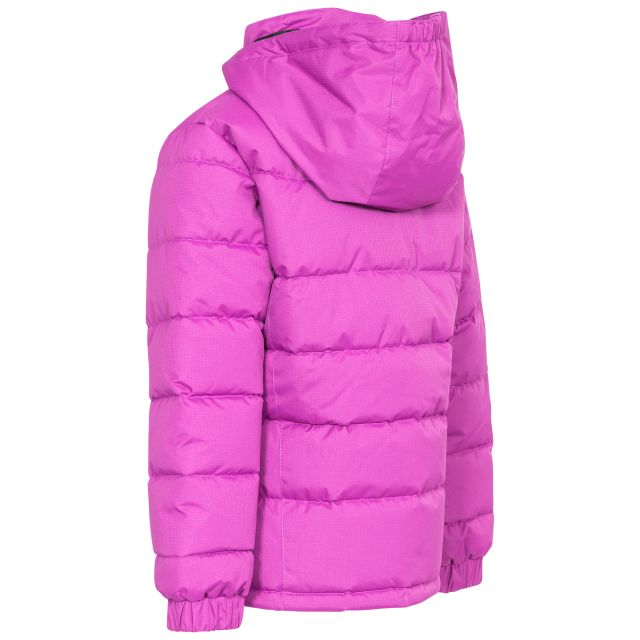Marey Girls' Water Resistant Padded Jacket in Purple