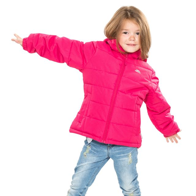 Marey Girls' Water Resistant Padded Jacket in Pink