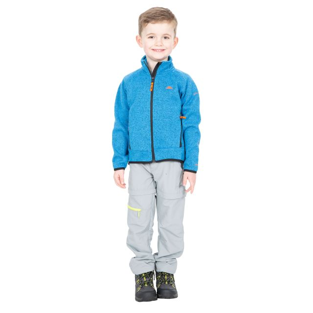 Mario Kids' Full Zip Fleece Jacket in Blue