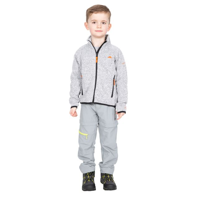Mario Kids' Full Zip Fleece Jacket in Light Grey