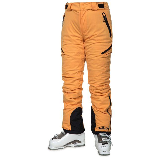 Marisol Women's DLX Waterproof Ski Trousers in Orange