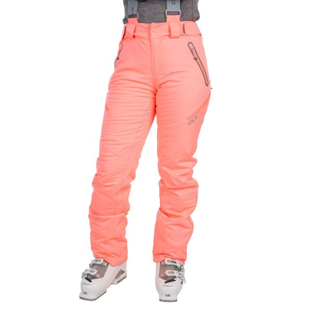 Marisol Women's DLX Waterproof Ski Trousers in Neon Coral